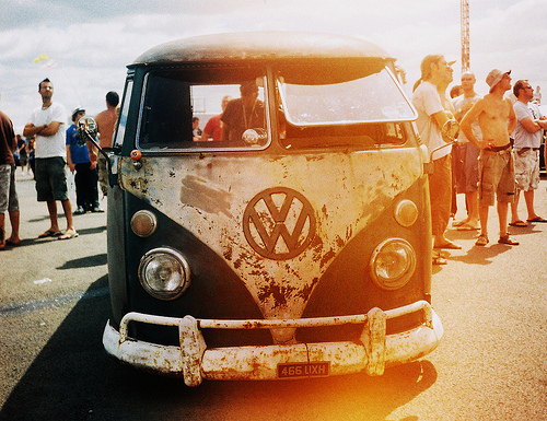 bus, car, paint, vintage, volkswagen, vw