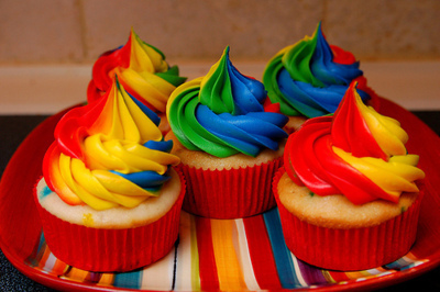cake, color, colorful, cupcake