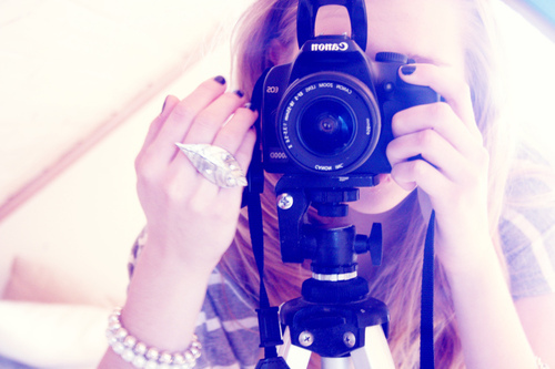 camera, cannon, girl, nails