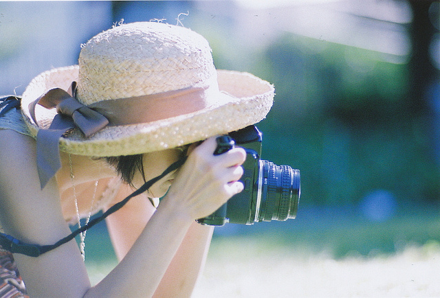 camera, chapeu, cute, fashion