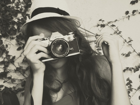 camera, cute, girl, hair