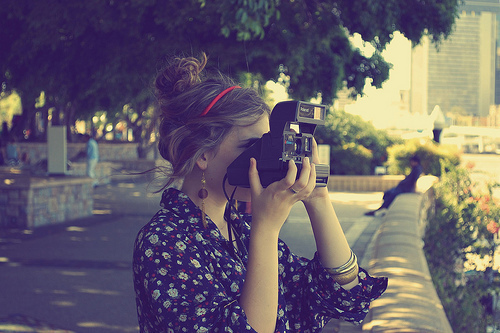 camera, cute, girl, photography