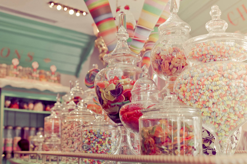 candy, colorful, cute, jars, vintage