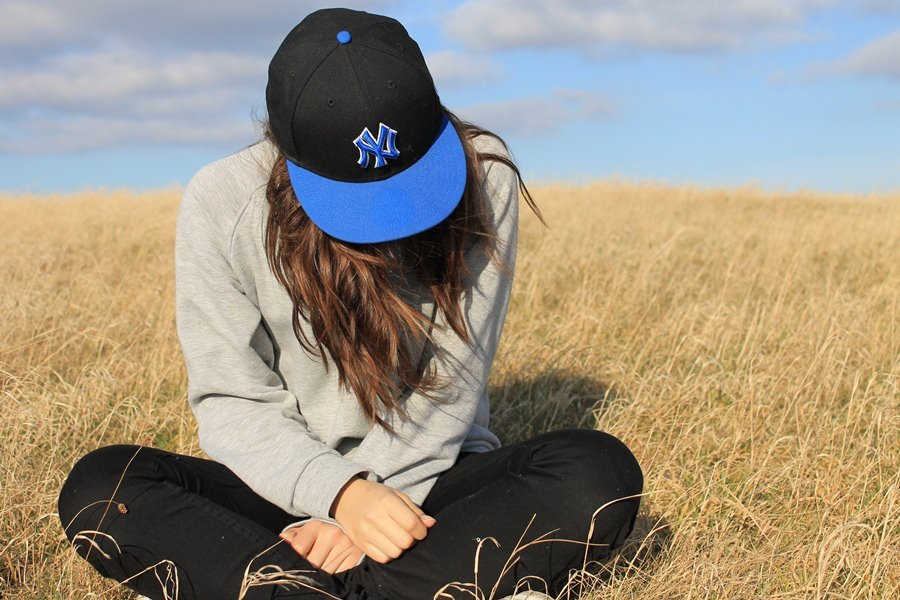 cap, cute, girl, nature