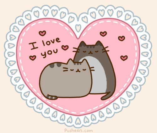 cat, cats, cute, drawing, heart, kitten, love, pusheen