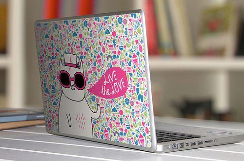 cat, cool, kitty, laptop, lentes, notebook, pink, portatil