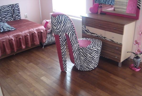 chair, pink, room, shoes