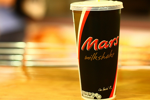 chocolate, drink, mars, milk shake