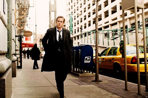 city, gorgeous, handsome, photoshoot, ryan gosling, thinking, walking