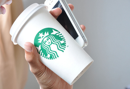 coffee, iphone, iphone 4s, starbucks, starbucls, technology, white