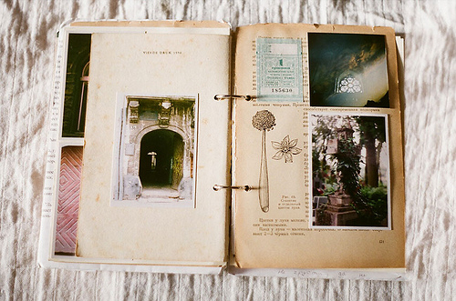 collage, album, arty, book