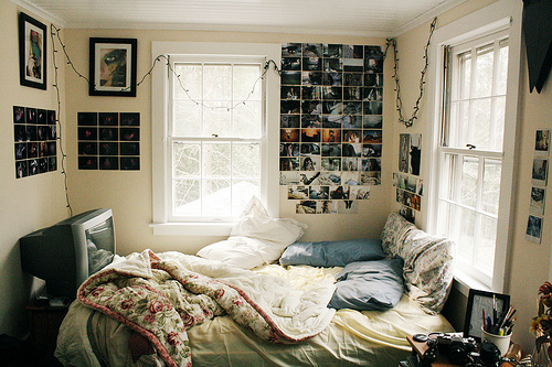 collage, beautiful, bed, bedroom