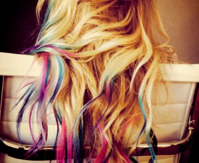 colored hair, cute, dyed hair, girl