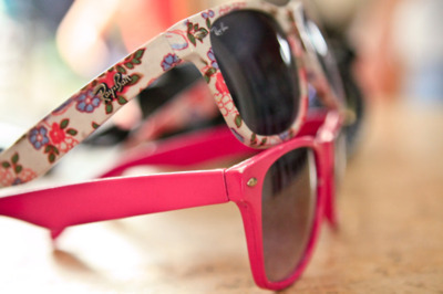colorful, cute, pink, rayban, sunglasses