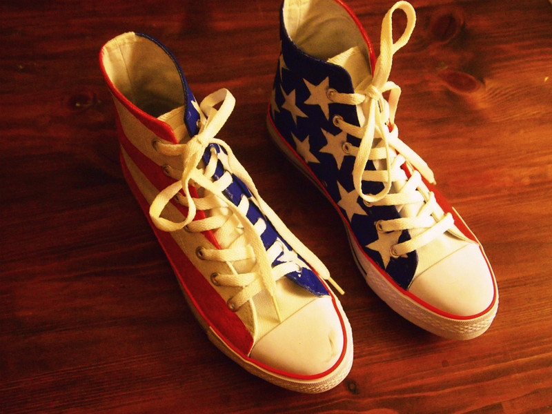 converse, diy, fashion, flag