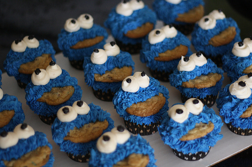 cookie, cupcakes, monster