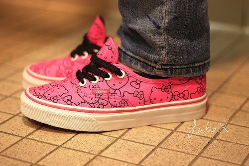 cool, hello kitty, pink, shoes