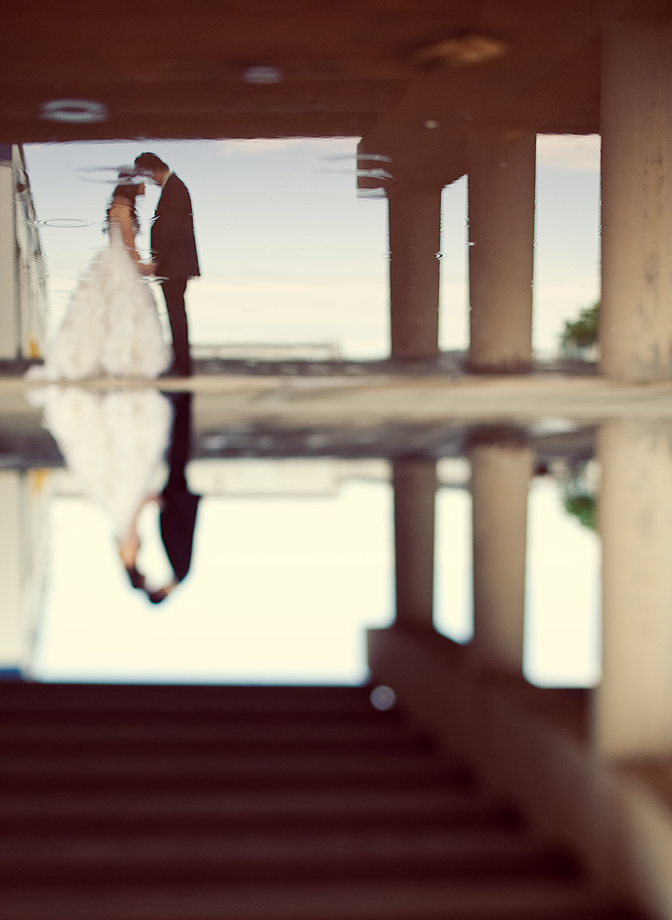 couple, love, rain, reflection