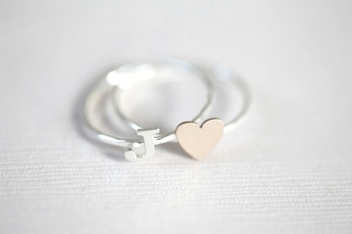 couple ring, cute, fashion, heart