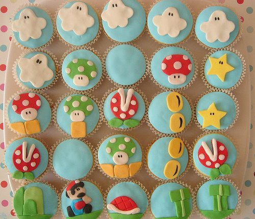 cupcake. sweet, cute, love, mario bros