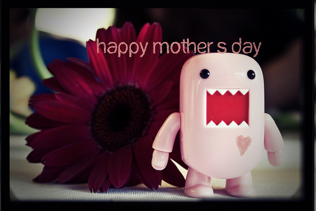 cute, domo, happy mothers day, heart