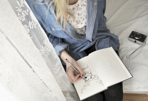 cute, draw, drawing, girl