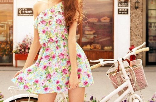 cute, dress, fashion, floral, girl