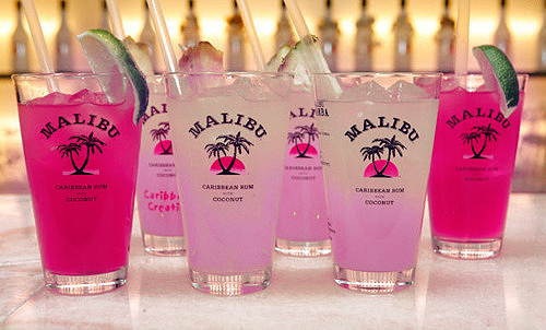 cute, drink, malibu, pink, summer, sun