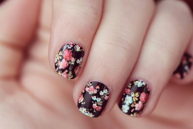 cute, fingernails, girly, nail art