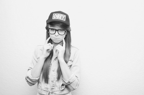 cute, girl, obey