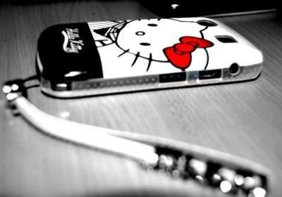 cute, hello kitty, mobile, photograph