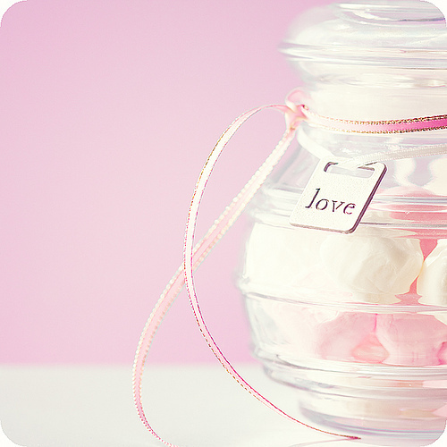 cute, jar, love, pink