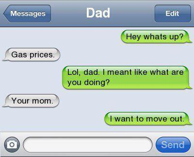 dad, funny, iphone, laugh