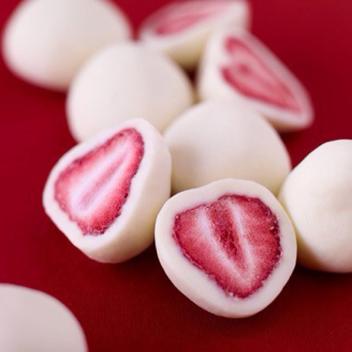 delight, edible, edible delights, red, red and white, strawberries, sweets, treats, white, yogurt