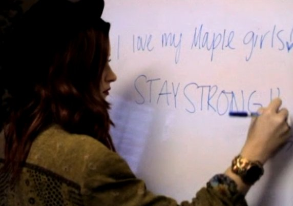 demi lovato, stay strong