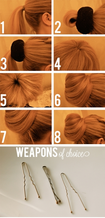 diy, girl, hair, sock bun