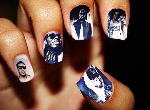 drake.chris brown, kanye west, lil wayne, nails