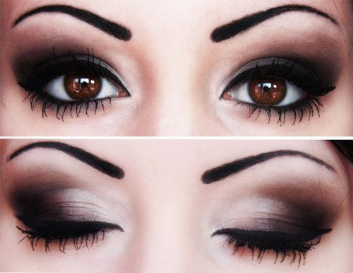 dramatic makeup, eyeliner, eyes, eyeshadow