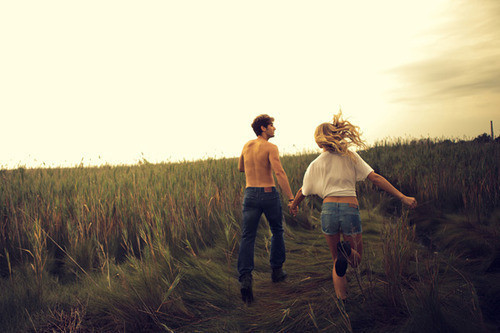 beautiful, blonde, boy, couple, dream, girl, guy, love, nature, run
