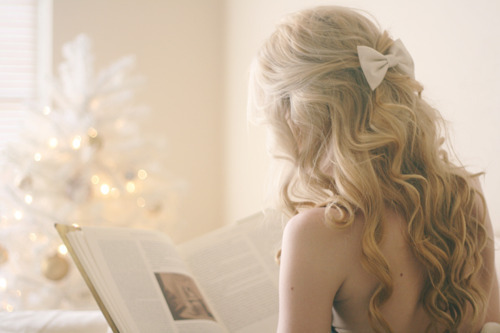 dream, blonde, book, bow tie