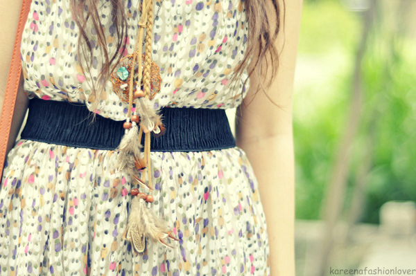 dream catcher, dress, fashion, necklace