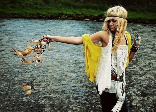 dream catcher, fashion, girl. blonde, photography