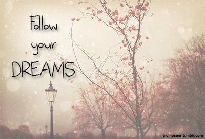 dreams, follow, follow your dreams, quote