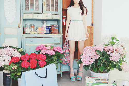 dress, fashion, flowers, girl