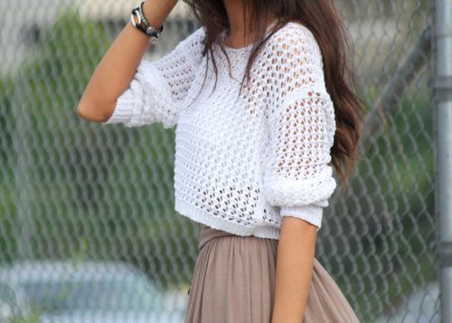 dress, fashion, girl, hair, sweater