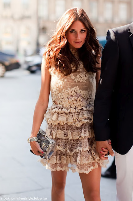 dress, fashion, lace, olivia palermo