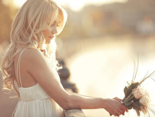 dress, girl, love, pretty, roses, sunlight