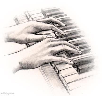 drowings, fingers, hands, illustration, nice, painting, piano