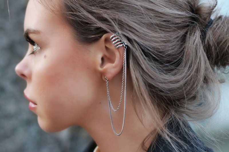 ear cuff, earring, girl, photography