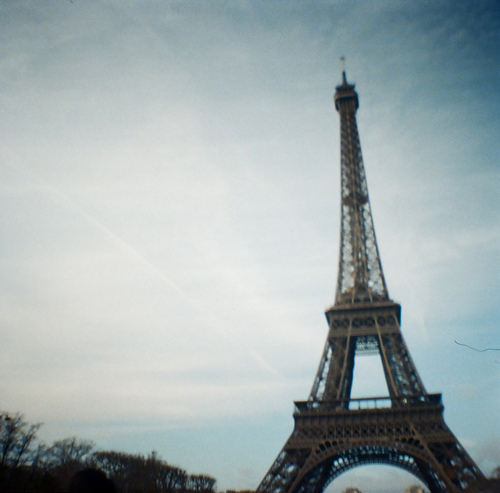 eiffel tower, lomography, paris, photography
